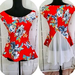 Beautiful Floral With Statment Backside